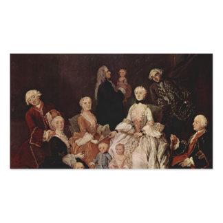 Una familia del Patrician de Pietro Longhi Plantillas De Tarjetas Personales