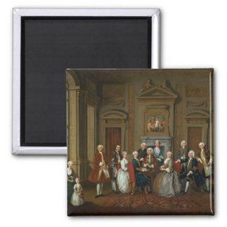 Una familia en un interior de Palladian, 1740 Imán Para Frigorifico