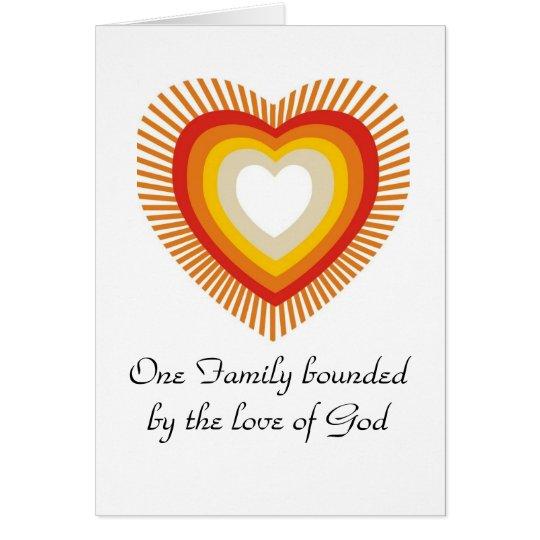 Una familia enlazada por el amor de dios tarjeta de felicitación