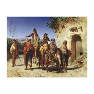 Una familia gitana en el camino c 1861 impresion de lienzo
