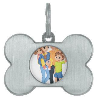 Una familia placas mascota