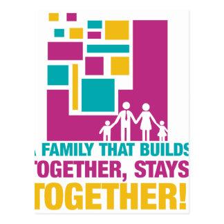 ¡Una familia que las estructuras juntas, Tarjeta Postal