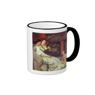 Una familia romana, 1867 (aceite en lona) taza