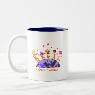 Una familia - tierra tazas de café