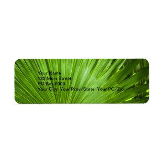 Una fan del verde etiquetas de remite