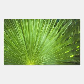 Una fan del verde pegatina rectangular