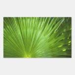 Una fan del verde rectangular pegatinas