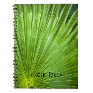 Una fan del verde spiral notebook