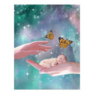Una fantasía disponible del bebé lindo membrete