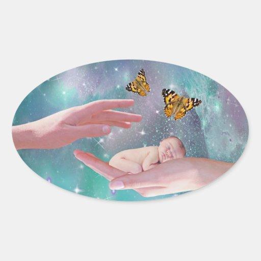 Una fantasía disponible del bebé lindo colcomanias ovaladas