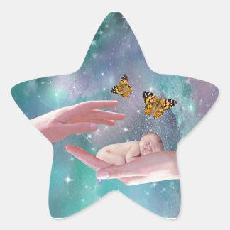 Una fantasía disponible del bebé lindo pegatina en forma de estrella