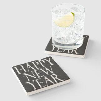 Una Feliz Año Nuevo chispeante Posavasos De Piedra