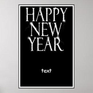 Una Feliz Año Nuevo chispeante Póster