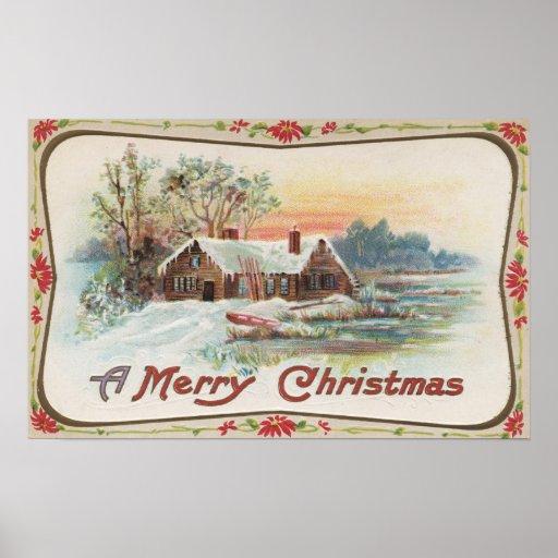 Una feliz escena del país de ChristmasA Poster