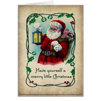 Una feliz pequeña tarjeta de Navidad