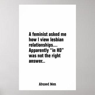 Una feminista me preguntó cómo veo a la lesbiana… póster