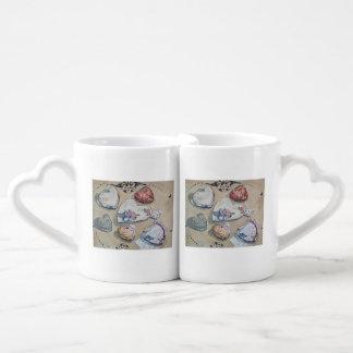 Una feria del sistema de la taza de los amantes de tazas para parejas