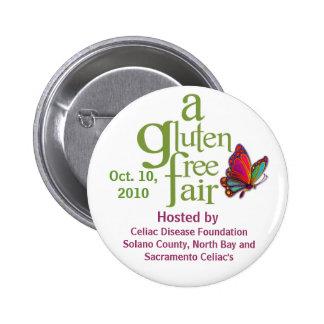 Una feria libre del gluten - botón pin redondo de 2 pulgadas