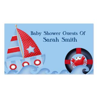 Una fiesta de bienvenida al bebé de la vida marina tarjetas de negocios