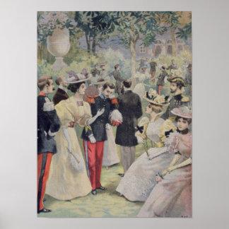 Una fiesta de jardín en el Elysee Póster