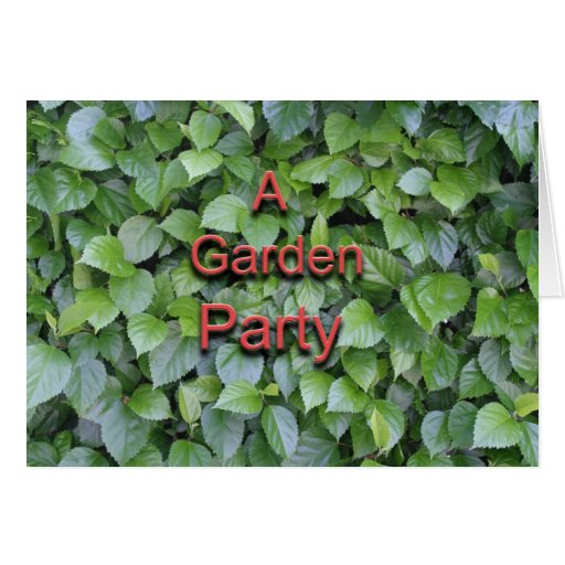 Una fiesta de jardín tarjeta de felicitación