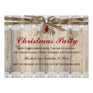 """Una fiesta de Navidad muy feliz del vintage invita Invitación 6.5"""" X 8.75"""""""
