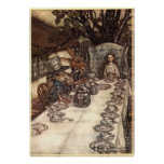 Una fiesta del té enojada de Arturo Rackham Posters