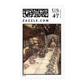 Una fiesta del té enojada de Arturo Rackham Sellos Postales