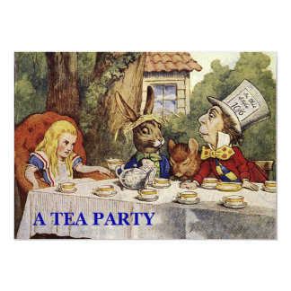 Una fiesta del té enojada INVITA Invitación 12,7 X 17,8 Cm