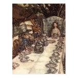 Una fiesta del té enojada postales