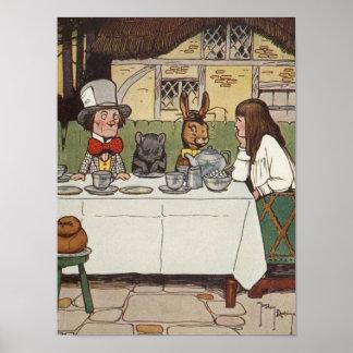 Una fiesta del té enojada póster