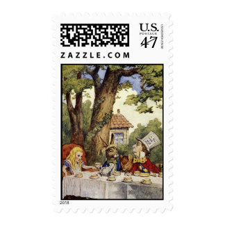Una fiesta del té enojada que usted puede ser que timbres postales