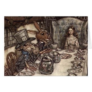 Una fiesta del té enojada tarjeta de felicitación
