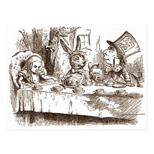 Una fiesta del té enojada tarjeta postal