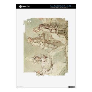 Una fiesta del té (pluma y tinta, lápiz y w/c en e iPad 3 skins