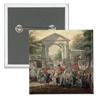 Una fiesta en un jardín botánico, 1775 pin cuadrada 5 cm
