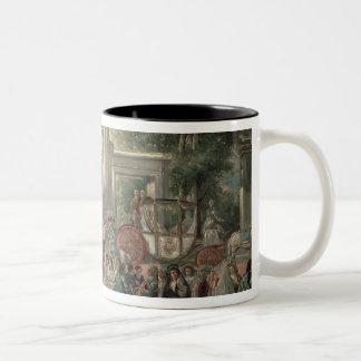 Una fiesta en un jardín botánico, 1775 taza de café