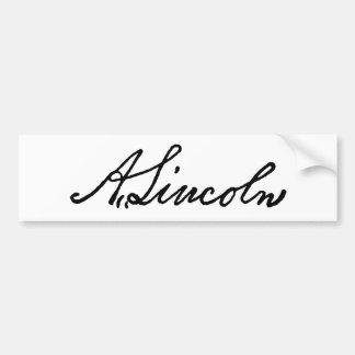 Una firma de Lincoln Pegatina Para Auto