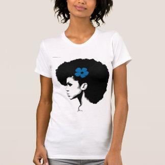 Una flor azul camisetas