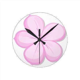 Una flor del rosa del cinco-pétalo relojes