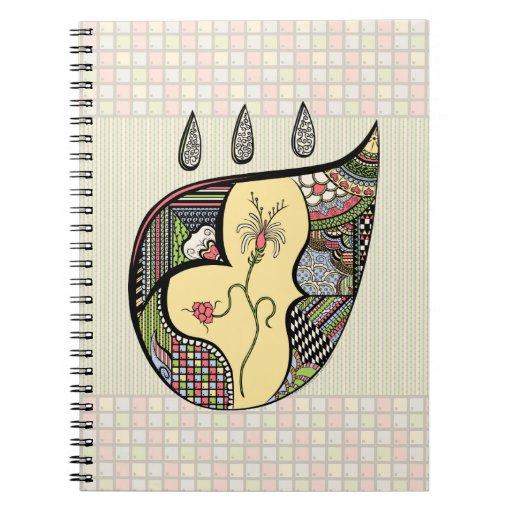 Una flor dentro del cuaderno