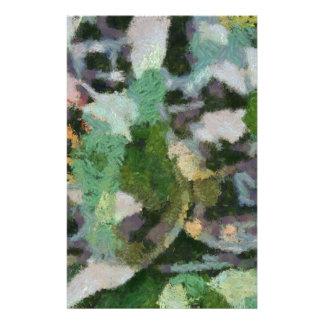 Una flor entre las hojas papelería de diseño