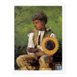 Una flor para el profesor de Winslow Homer Tarjeta Postal