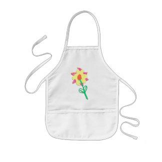 Una flor para la abuela delantal infantil