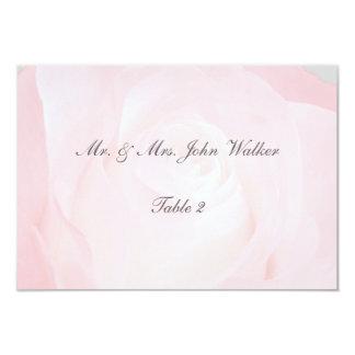 """Una flor para mis tarjetas del asiento del amor invitación 3.5"""" x 5"""""""