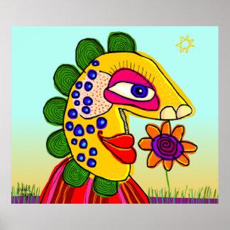 """""""una flor puede hacerme"""" el poster feliz"""