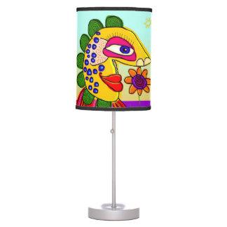 una flor puede hacerme feliz lámpara de mesa