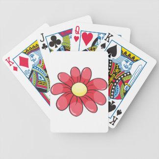 una flor roja cartas de juego