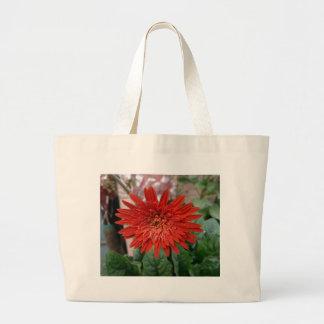 Una flor roja brillante bolsa