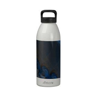 Una flota del fractal de los zorros botellas de agua reutilizables
